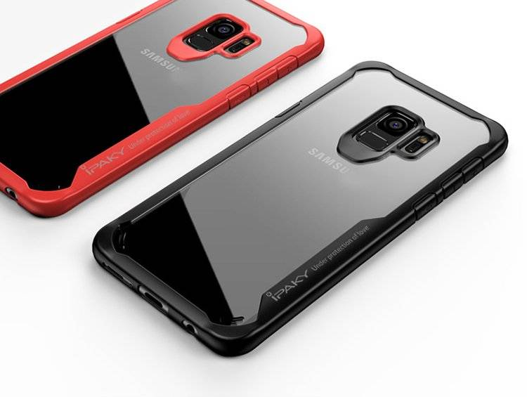 iPaky Survival żelowy pokrowiec wzmocnione etui Samsung Galaxy S9 Plus G965 szary