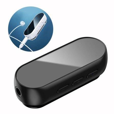 Baseus BA02 odbiornik dźwięku Bluetooth audio AUX mini jack do słuchawek czarny (NGBA02-01)