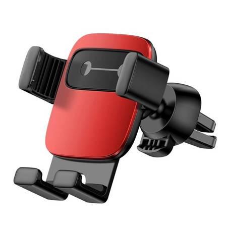 Baseus Cube grawitacyjny uchwyt samochodowy na kratkę wentylacyjną nawiew na telefon czerwony (SUYL-FK09)