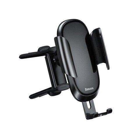 Baseus Future grawitacyjny uchwyt samochodowy na okrągłą kratkę wentylacyjną nawiew na telefon czarny (SUYL-BWL01)