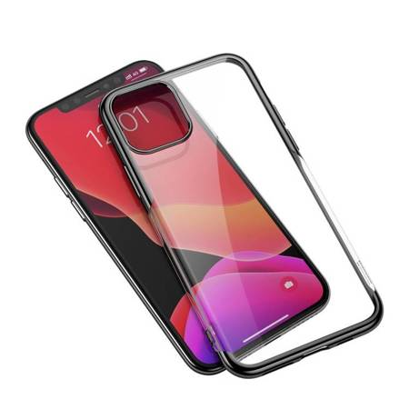 Baseus Shining Case żelowe etui pokrowiec na iPhone 11 Pro Max czarny (ARAPIPH65S-MD01)