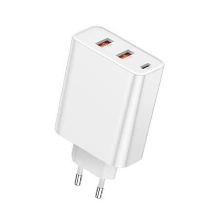 Baseus Speed PPS ładowarka Quick Charge 3.0 / 4+ 2x USB / USB Typ C PD Power Delivery 5A 60W biały (CCFS-G02)