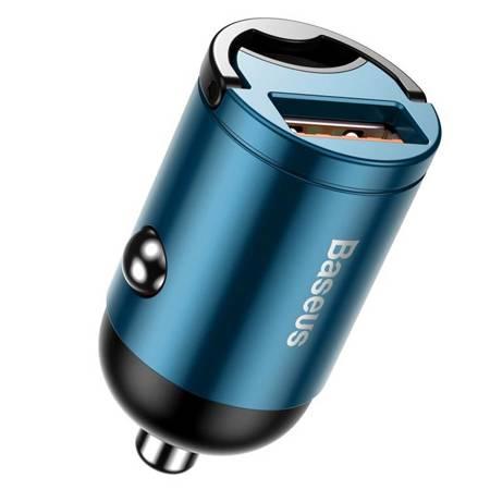 Baseus Tiny Star PPS mini inteligentna ładowarka samochodowa USB 30W Quick Charge 3.0 niebieski (VCHX-A03)