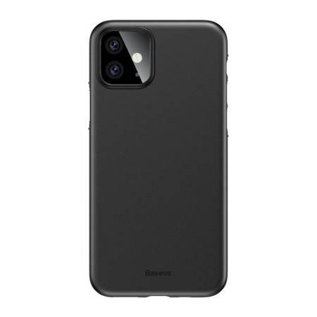 Baseus Wing Case ultracienkie etui pokrowiec iPhone 11 czarny (WIAPIPH61S-A01)