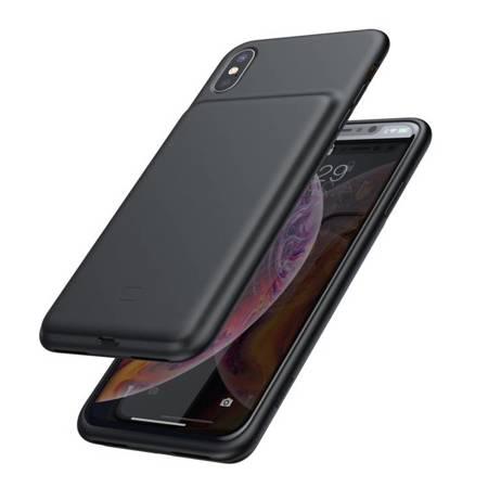 Baseus etui pokrowiec + wbudowany power bank 3300mAh iPhone XS / iPhone X czarny (ACAPIPH58-ABJ01)