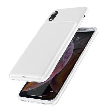 Baseus etui pokrowiec + wbudowany power bank 3900mAh iPhone XR biały (ACAPIPH61-BJ02)