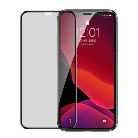 Baseus szkło na cały ekran Full Screen Privacy Anti-Spy z ramką 0.23mm 9H iPhone 11 Pro / iPhone XS / iPhone X + pozycjoner czarny (SGAPIPH58-CTG01)