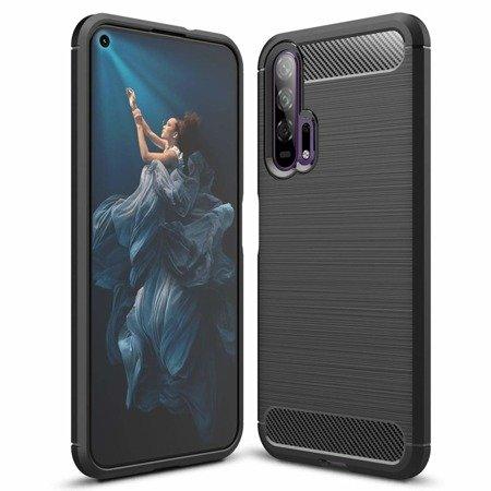 Carbon Case elastyczne etui pokrowiec Huawei Honor 20 / 20 Pro czarny