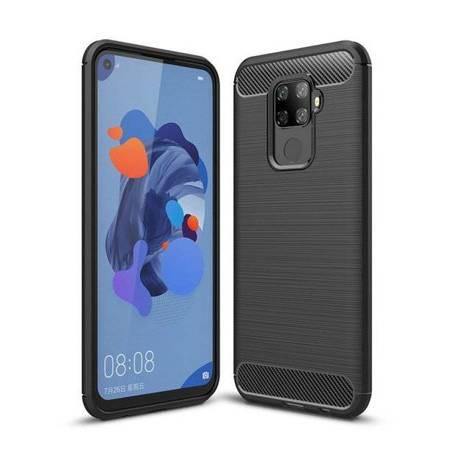 Carbon Case elastyczne etui pokrowiec Huawei Mate 30 Lite czarny