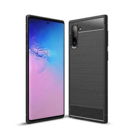 Carbon Case elastyczne etui pokrowiec Samsung Galaxy Note 10 czarny