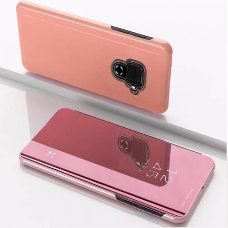 Clear View Case futerał etui z klapką Huawei Mate 30 Lite różowy