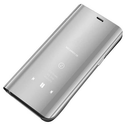 Clear View Case futerał etui z klapką Samsung Galaxy A10 / Galaxy M10 srebrny