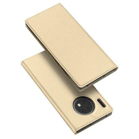 DUX DUCIS Skin Pro kabura etui pokrowiec z klapką Huawei Mate 30 złoty