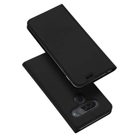 DUX DUCIS Skin Pro kabura etui pokrowiec z klapką LG G8s ThinQ czarny