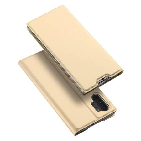 DUX DUCIS Skin Pro kabura etui pokrowiec z klapką Samsung Galaxy Note 10 Plus złoty