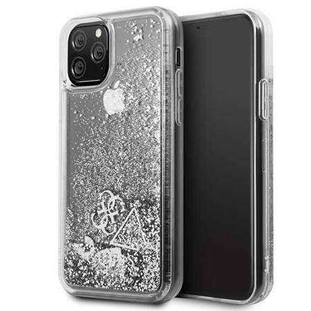 Etui Guess GUHCN58GLHFLSI iPhone 11 Pro srebrny/silver hard case Glitter Hearts