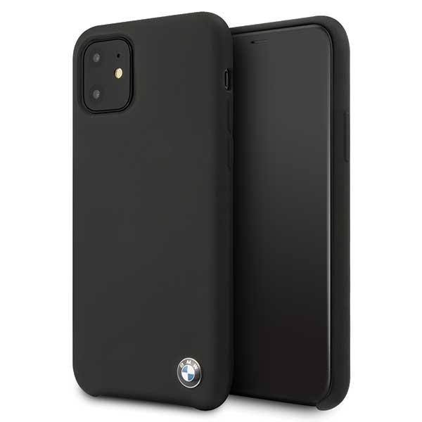 Etui hardcase BMW BMHCN61SILBK iPhone 11 czarny/black Silicone