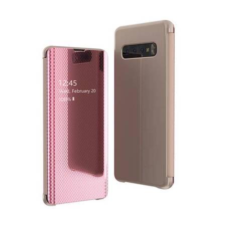 Flip View futerał etui z klapką Samsung Galaxy S10 Plus różowy