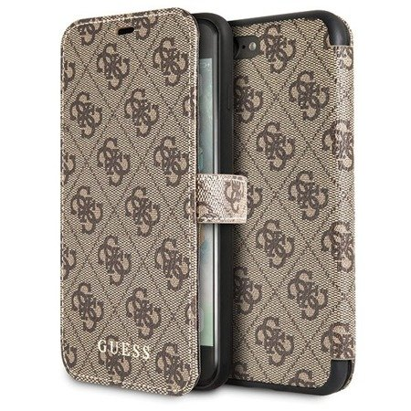 Guess GUFLBKI8L4GB iPhone 7/8 Plus brown/brązowy book 4G