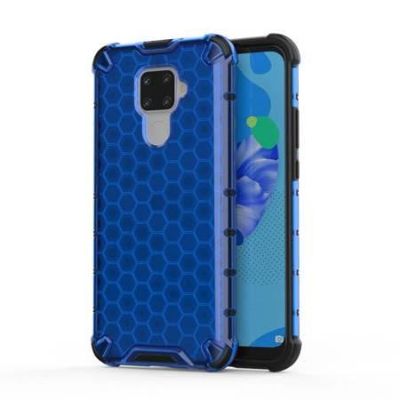Honeycomb etui pancerny pokrowiec z żelową ramką Huawei Mate 30 Lite / Huawei Nova 5i Pro niebieski