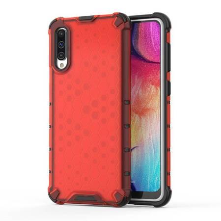 Honeycomb etui pancerny pokrowiec z żelową ramką Samsung Galaxy A50s / Galaxy A50 / Galaxy A30s czerwony