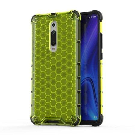 Honeycomb etui pancerny pokrowiec z żelową ramką Xiaomi Mi 9T / Xiaomi Mi 9T Pro zielony