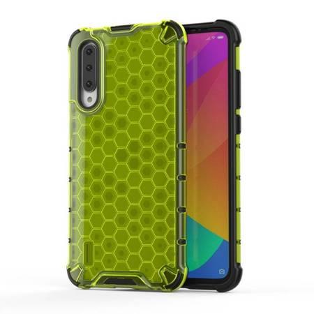 Honeycomb etui pancerny pokrowiec z żelową ramką Xiaomi Mi CC9e / Xiaomi Mi A3 zielony
