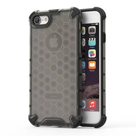 Honeycomb etui pancerny pokrowiec z żelową ramką iPhone 8 / iPhone 7 czarny