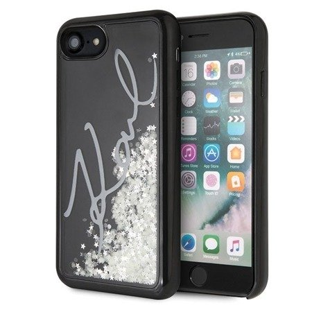 Karl Lagerfeld KLHCI8PH2IR iPhone 7/8 czarny/black Glitter Signature - Glow in the dark