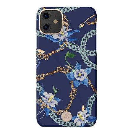 Kingxbar Luxury Series etui ozdobione oryginalnymi Kryształami Swarovskiego iPhone 11 niebieski