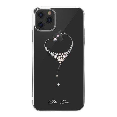 Kingxbar Wish Series etui ozdobione oryginalnymi Kryształami Swarovskiego iPhone 11 Pro srebrny