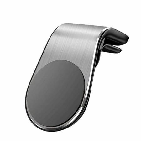 Magnetyczny uchwyt samochodowy na kratkę wentylacyjną nawiew srebrny (CH02)