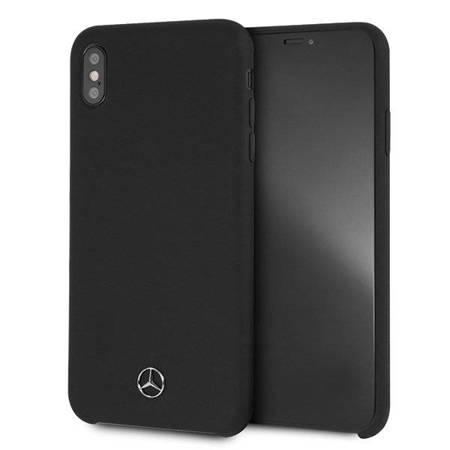 Mercedes MEHCI65SILBK iPhone Xs Max hard case czarny/black Silicon