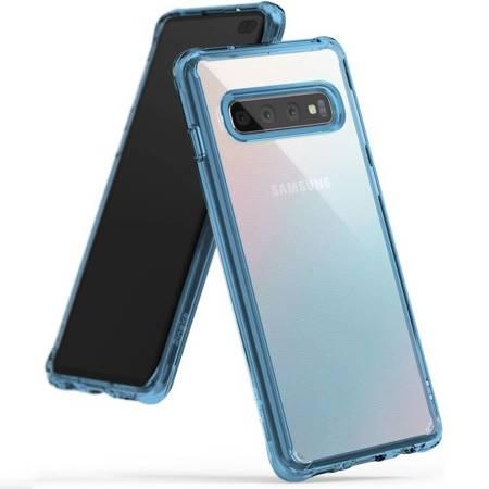 Ringke Fusion etui pokrowiec z żelową ramką Samsung Galaxy S10 Plus niebieski (FSSG0060)