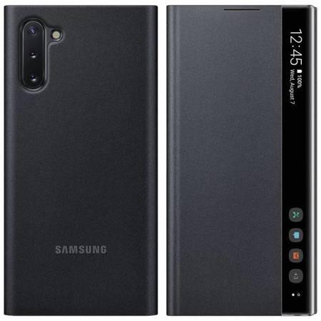 Samsung Clear View Cover futerał etui z inteligentną klapką Samsung Galaxy Note 10 czarny (EF-ZN970CBEGWW)