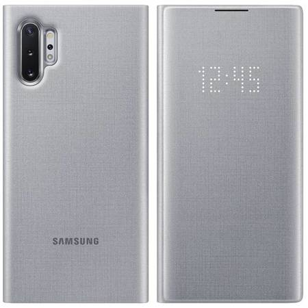 Samsung LED View Cover etui pokrowiec z wyświetlaczem LED Samsung Galaxy Note 10 Plus srebrny (EF-NN975PSEGWW)