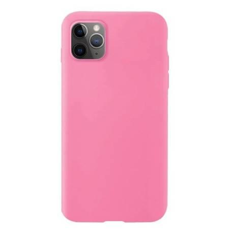 Silicone Case elastyczne silikonowe etui pokrowiec iPhone 11 Pro Max różowy