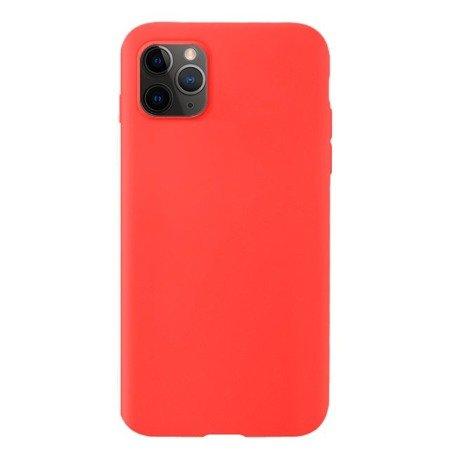 Silicone Case elastyczne silikonowe etui pokrowiec iPhone 11 Pro czerwony