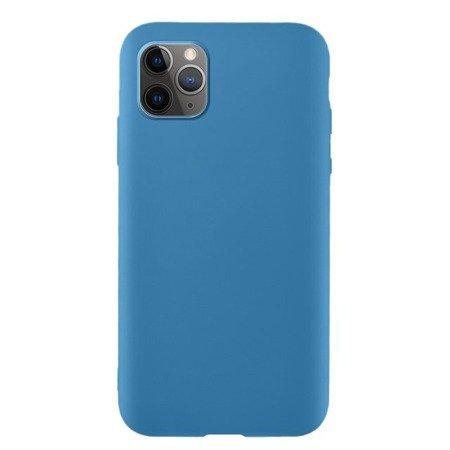 Silicone Case elastyczne silikonowe etui pokrowiec iPhone 11 Pro niebieski