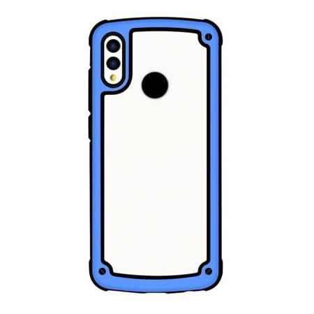Solid Frame etui wytrzymały pokrowiec z żelową ramką Samsung Galaxy A50/A30 niebieski