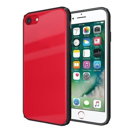 Tempered Glass Case etui pokrowiec nakładka ze szkła hartowanego iPhone 8 / 7 czerwony