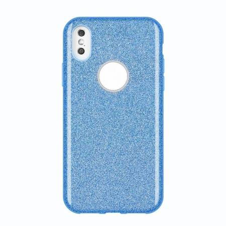Wozinsky Glitter Case błyszczące etui pokrowiec z brokatem Huawei Mate 30 Lite niebieski
