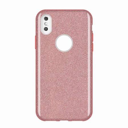 Wozinsky Glitter Case błyszczące etui pokrowiec z brokatem Huawei Mate 30 Lite różowy