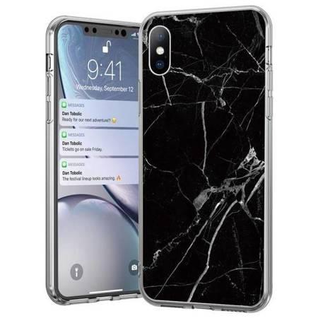 Wozinsky Marble żelowe etui pokrowiec marmur Huawei Mate 30 Lite / Huawei Nova 5i Pro czarny
