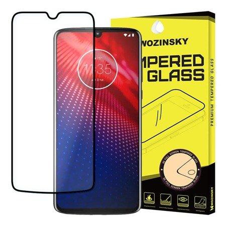 Wozinsky super wytrzymałe szkło hartowane Full Glue na cały ekran z ramką Case Friendly Motorola Moto Z4 czarny
