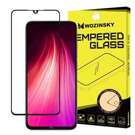 Wozinsky super wytrzymałe szkło hartowane Full Glue na cały ekran z ramką Case Friendly Xiaomi Redmi Note 8 czarny